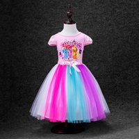 Wholesale My little pony new selling children s skirt Lovely girl clothing shape colour gauze children s short sleeve dress color PC generation