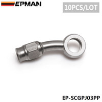 Wholesale EPMAN PC AN3 Degree Stainless Steel Banjo Fitting MM ID MM Eye Banjo Hose For Car Auto Motorcycle EP SCGPJ03PP PC