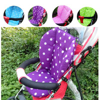 Wholesale 2015 Baby Infant Thick Pushchair Mat Dot Liner Cover Stroller By Pram Seat Cushion