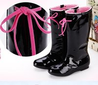 kids rubber boots - Girls Boots New Spring Winter Genuine Leather Child Rubber Boot For Kids Girl High Knee Children Shoes Waterproof Botas L141