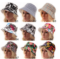 floral bucket hat - 2015 new women Bohemian floral Sun Hats fashion Flower Canvas Bucket Hats design Summer Beach Sun Hat fishing hat for ladies