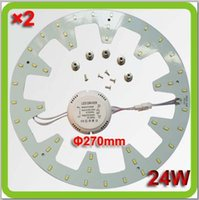 Wholesale 2016 new high bright smd lm W magnetic circular LED ceiling light ring disc led techo equal to w fluorescent D tube