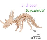 animal brain teasers - Brain teaser Dragon Simulation Model Wooden Puzzle DIY Woodcraft Stereo Animal Serial Assembing Toys