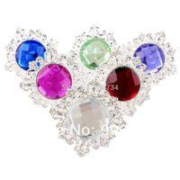 Wholesale 3 Colors For Choose White Diamond Napkin Ring Serviette Holder Wedding Banquet Dinner Decor Favor