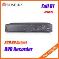 Wholesale 8CH DVR Full HD D1 Video Monitor Recorder x576 P2P Remote Woshida
