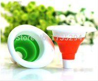 beer funnels - Kitchen Tool Silicone Small Funnel Beer Wine Oil Collapsible Scalable Funnel