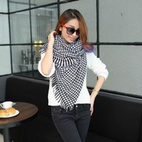 Wholesale Brand Design European Fashion Tassels Houndstooth Cashmere Scarf all match ultra Long paragraph Shawl Neutral PD25