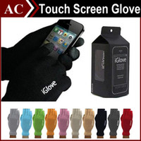 Wholesale Unisex iGlove Capacitive Finger Touch Screen Glove for iPhone S S Plus iPad Smart Phone iGloves Intellegent Gloves with Retail Box