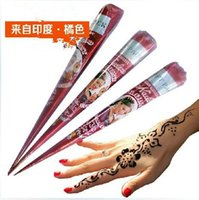 Wholesale High Quality goods import henna sea na cone India ink na Hanna tattoo tattoo paste pure plant brown Tattoos Body Art Tattoo Inks