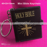 bible covers wholesale - Mini Bible Keychain English HOLY BIBLE Religious Christian Jesus Black Cover pc