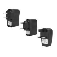 Wholesale 5V mA Output US Plug EU Plug V mA Output UK Plug Home Travel Wall Charger USB Power Plug for Mini Sports DV Smart Phone