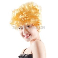 Wholesale Halloween carnival cosplay fancy dress party accessory wigs golden Synthetic hair Afro short curly Wig wig sasuke