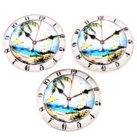 Cheap 2015 New Style 60pcs lot Lighthouse & Clock & Coconut Tree Pattern Glass Jewelry Findings Round Glass Tiles 20*20*6.5mm 200299
