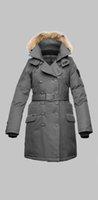fur collar - Nobis Women Tula Parka fur collar long coats Outdoor tula down jackets