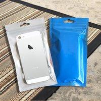 Precio de Bolsas de plástico para alimentos-Clear + Blue Pearl plástico poli OPP Zip embalaje bloquear paquetes al por menor de la joyería de caramelo Alimentos PVC Plastic Bag Bolsa Teléfono Packaging Envío Gratis