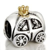 achat en gros de royal pandora-Vente en gros Royal Carriage Charm 925 Sterling Silver Européenne Charm Bead Fit Pandora Serpent Chaîne Bracelet Mode Bijoux DIY