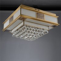 Wholesale Modern LED Crystal Ceiling Lights Surface Mounted Remote Control Chandeliers Ceiling Light Fixture For Living Room X8109