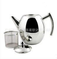Wholesale stainless steel teapot with screen hotel restaurant tea pot restaurant tea pot coffee pot wine
