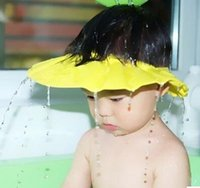 Wholesale Adjustable Convenient Baby Child Kids Shampoo Bath Shower Cap Hat Wash Hair Shield Children shampoo cap TY3