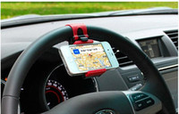 abs cradle - flexible phone holder extend steering wheel cradle cellphone clip car bike mount stand by dhl abs universal black sale