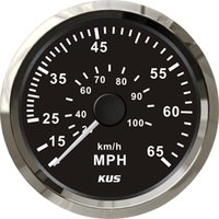 Wholesale KUS Gauges mm black faceplate stainless steel bezel speedometer MPH for the boat yacht marine