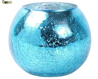 Wholesale Umiwe Mosaic Glass Tealight Holder Candle Romatic Lantern Stand Centerpiecesn for Wedding Festival