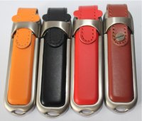 Wholesale 2015 different colors leather USB GB GB GB USB Memory Stick Flash Pen Drive customized acceptable