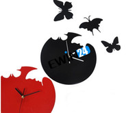 Wholesale Butterfly Clock Decor Wall Clock Unique DIY Bedroom Decoration d Clocks Good Quality Hot Selling