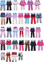 al por mayor faldas de navidad-Historieta del bebé culottes vestir leggings ganchillo faldas de punto los niños Xmas leggings medias pantalones ropa de bebé