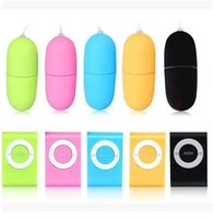 Wholesale MP3 female Vibrating Egg Remote Control Love Balls Bullet Blue Green Yellow Pink Colors randomly US Shipping