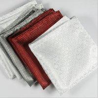 Wholesale Fashion Chic Mens Silk Satin Pocket Square Hankerchief Hanky Plain Solid Color
