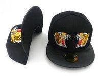 baseball textures - Freeshipping Texture Fashion Golden Black Tiger Cartoon Snapback Caps Men Women Hip hop Baseball Hats