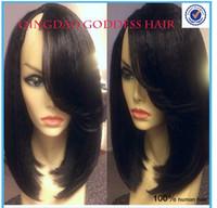 ally - Ally Express Short Bob Upart Wig yaki straight bob u part wig natural black layered Brazilian virgin hair