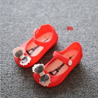 Wholesale Fashion Children s Jelly Shoes Mini Melissa Girl s Rain Shoes Kids Baby Infant Toddler Bow Sandals Styles
