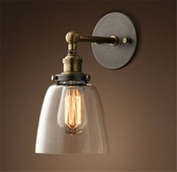 Wholesale New DIY Loft Industrial Vintage Wall Lamps Glass lamp shade light for bedroom hallway coffee bar hotel resturant