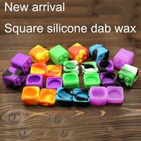 Square Silicone wax conainer square jar - Slick stack lego shaped ml silicone square bho oil container silicon dab wax storage jar for concentrates wax and BHO