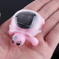 Wholesale 5pcs Solar Energy Toys Mini solar tortoise Color box packing four colors avaiable