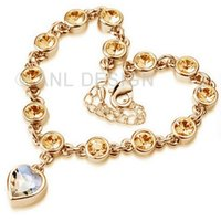Wholesale 2014 High Quality Crystal Romantic Love Heart Bracelet Women Jewelry Birthday Party Gift TS25 G00 C51 X00