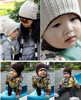 Wholesale 5 Colors Baby Kids Infant Toddler Beanie Hat Warm Winter Boys Girls Cap Children Accessories Knitting