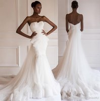 Cheap 2015 Fashion Design Sweetheart Trumpet Mermaid Wedding Dresses NEW 2015 Applique Lace Beads Peplum Bridal Gowns Sheer Wedding Dress