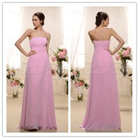 affordable style - New Style Ruched A_Line Strapless Floor_Length Bridesmaid Dress Affordable Zipper Sleeveless Chiffon Bridesmaid Dresses WH2242