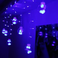christmas glass ball ornaments - Led Curtain Lights String m m Leds Glass Ball Wedding Xmas Ornament Party Holiday Background Decoration String Fairy Lamp