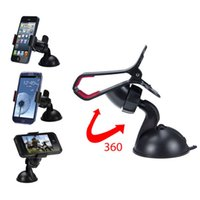 Cheap 360 degree Car Windshield Mount cell mobile phone Mounts & Holders Bracket stands for iPhone5 4S for samsung Smartphone on stock