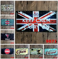 advertisement posters - hot fashion cm Notice advertisement car license poster tin sign Coffee Shop Bar Restaurant Wall Art decoration Bar Metal Paintings