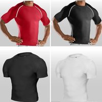 under-armour - Retail mens boys compression Armour base layer short sleeve Under sports T shirts fitness T shirt fashion breathable clothes HX