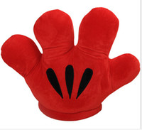 Wholesale quot CM Retail MICKEY amp Minnie MOUSE Double Faced Big Gloves Soft Plush Cushion Pillow Plush kawaii Toy Xmas Gift