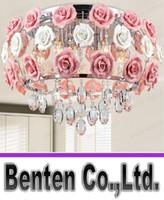 Wholesale llfa35 Modern flower shape glass crystal chandelier restaurant light roses shaped lamp shade Dia MM