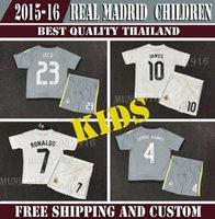 kids jerseys - Cheap real madrid kids boy soccer jerseys Ronaldo James Bale Kroos Ramos Isco children shirts real madrid RONALDO kids