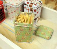 al por mayor el mini lata de té-2016 Moda Patrón Leopard Mini caja de la lata de té Caddy caramelo Palillo Box Seal Caja de almacenamiento Four Square Hierro Caja para los regalos de Niños