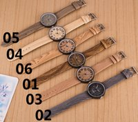 wood watches wholesale - Popular imitation wood watches